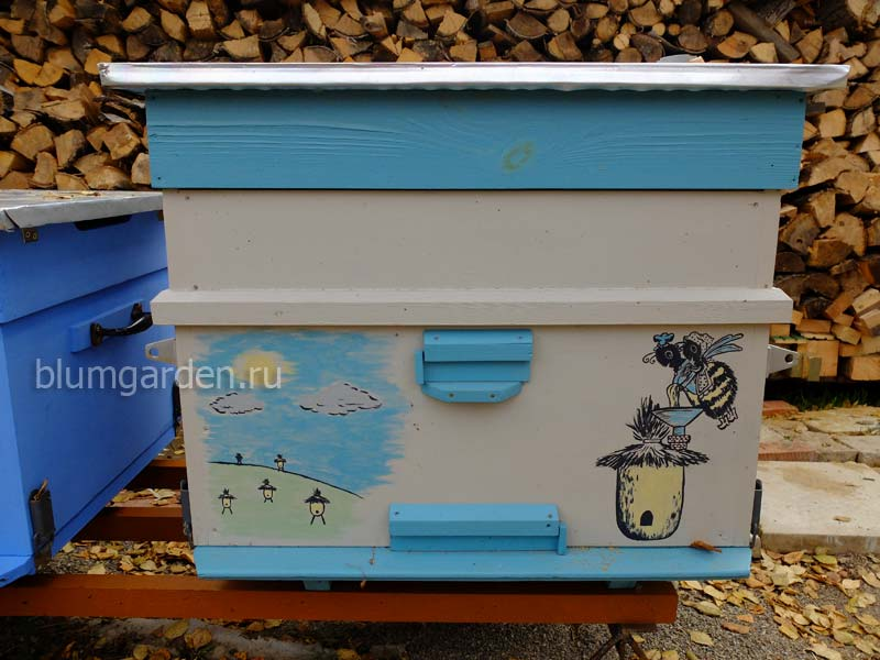 Улей для пчел утепленный с рисунком © blumgarden.ru