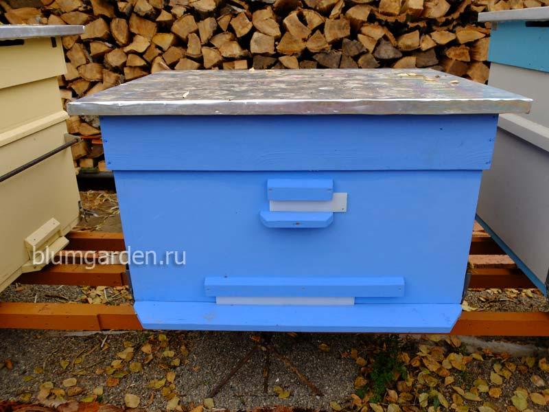 Улей для пчел утепленный синий © blumgarden.ru